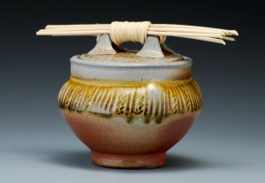 Carved Reed Jar
