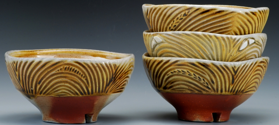 Carved Square Bowls